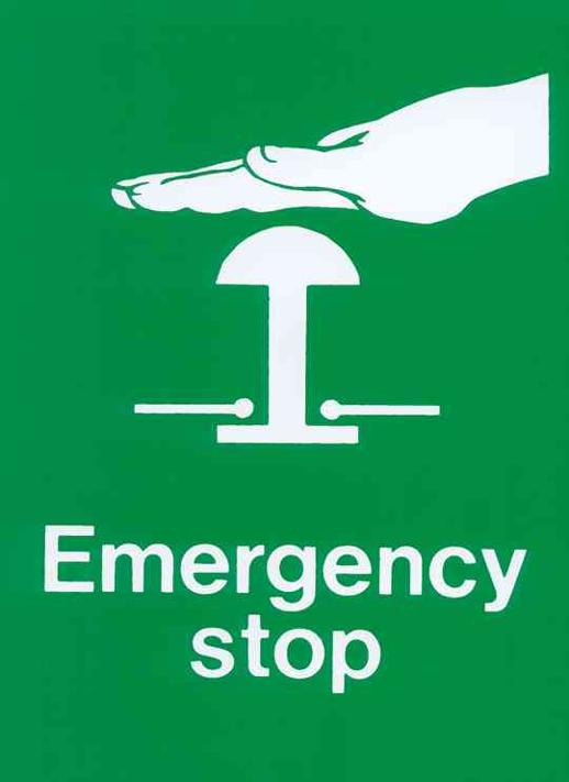 RFID emergency management: emergency stop