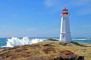 A lighthouse like this works similarly to bluetooth beacons