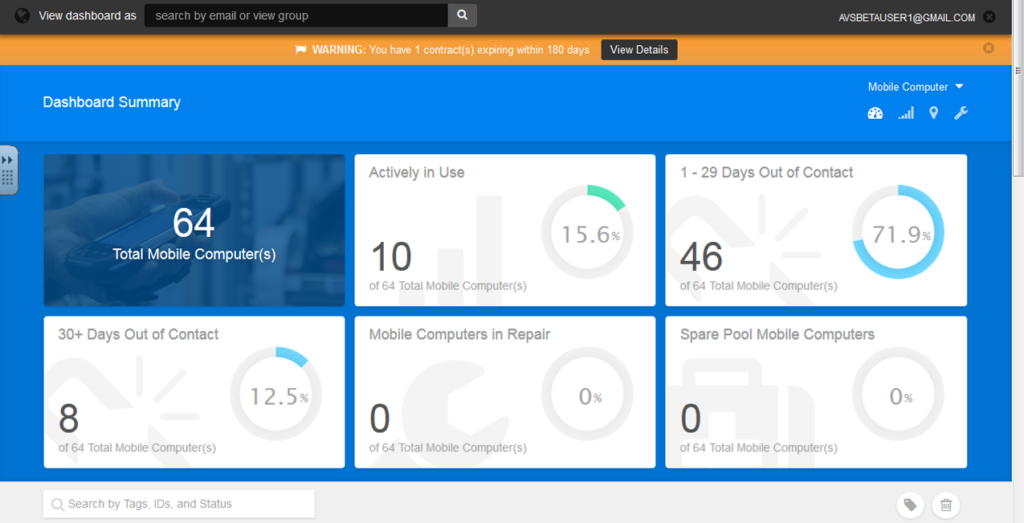 A snapshot of the easy-to-use AVS and OVS Dashboard