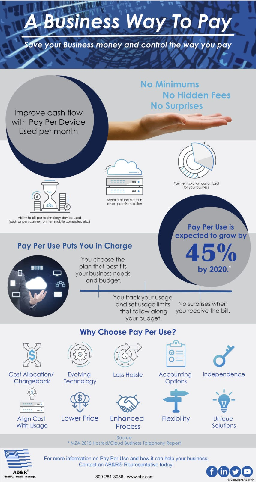 Pay Per Use Infographic