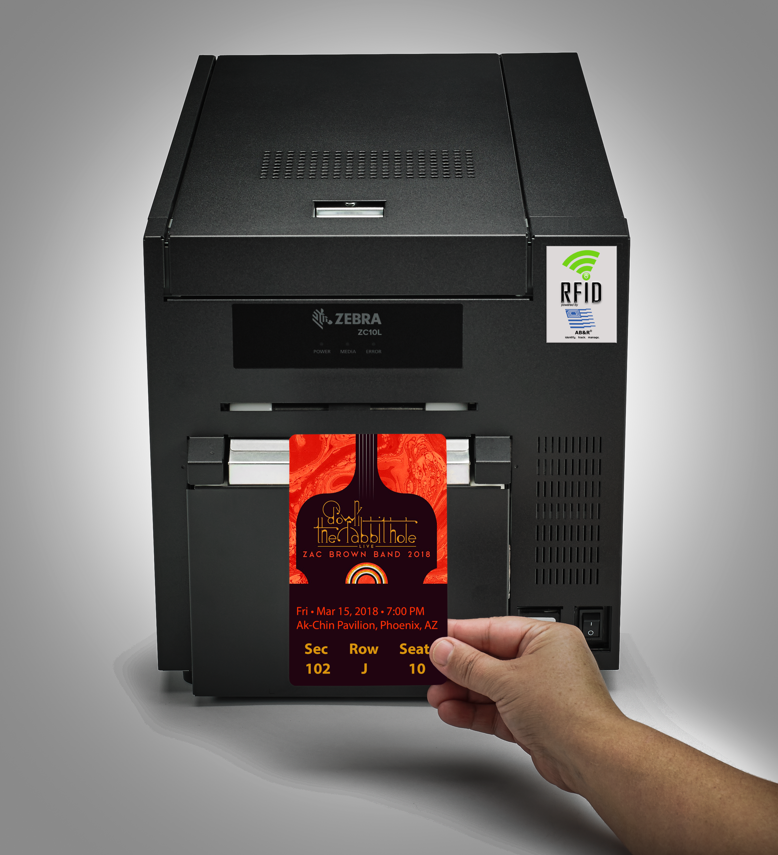 AB&R®'S ZC10L RFID LARGE FORMAT CARD PRINTER NAMED A FINALIST FOR BEST NEW PRODUCT BY RFID JOURNAL!