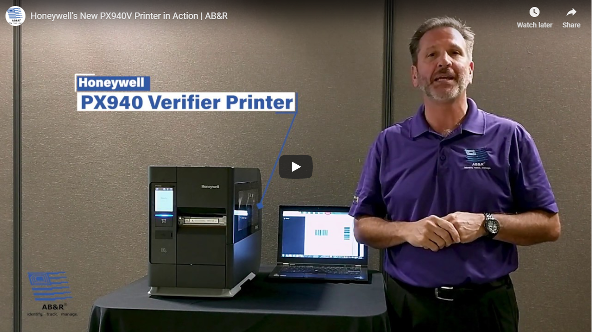 See Honeywell's New PX940V Printer in Action - AB&R - AB&R®