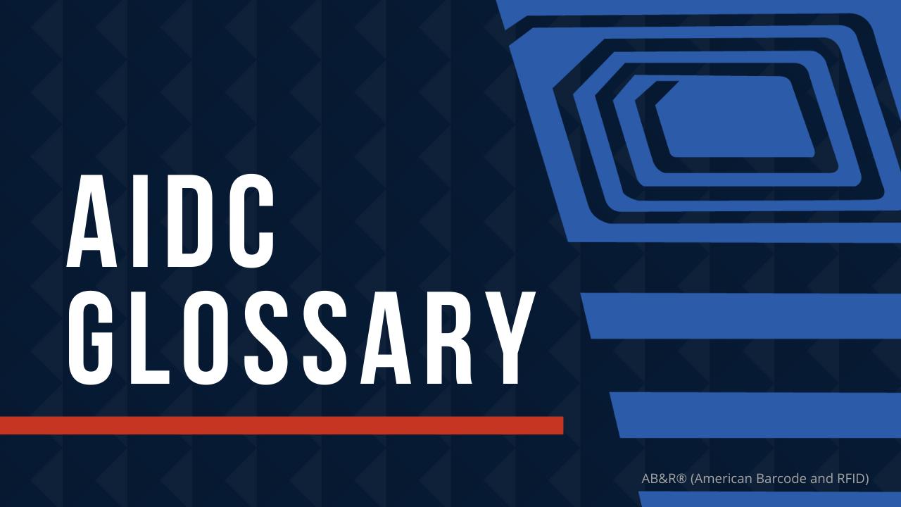 Barcode RFID Glossary